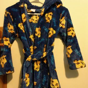 Boy's size 4/5 x small robe, The lion king.